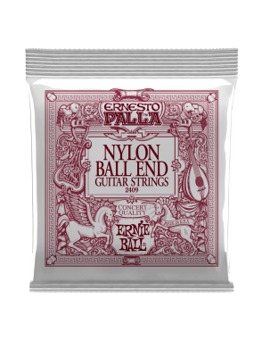 Ernie Ball® Cuerdas Guitarra Clásica 6 Cuerdas 2409 Ernesto Palla BLACK & GOLD BALL-END NYLON Tensión Media