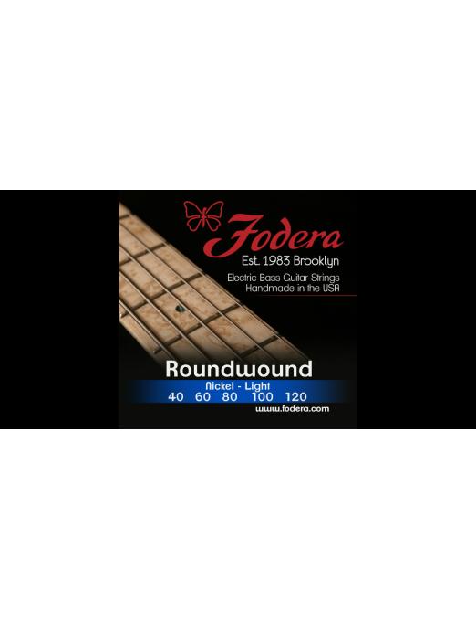 Fodera® Cuerda Bajo Eléctrico 5 Cuerdas Nickel Light 40 - 120