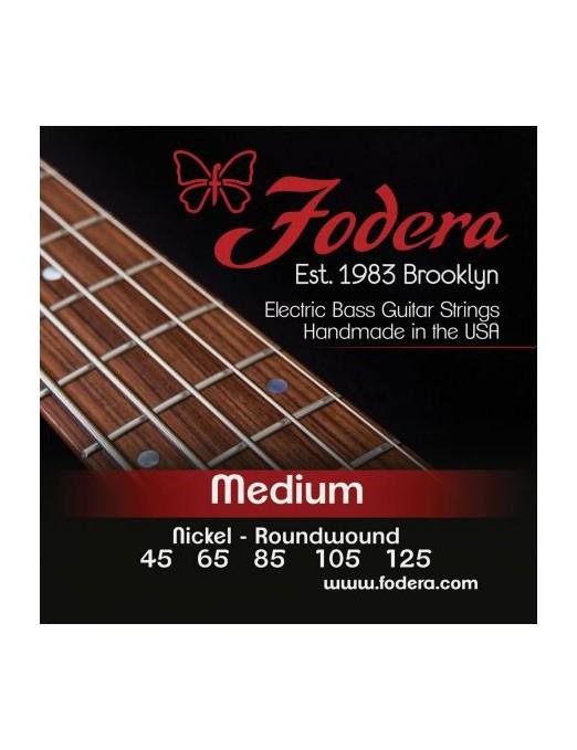 Fodera® Cuerda Bajo Eléctrico 5 Cuerdas Nickel Medium 45 - 125
