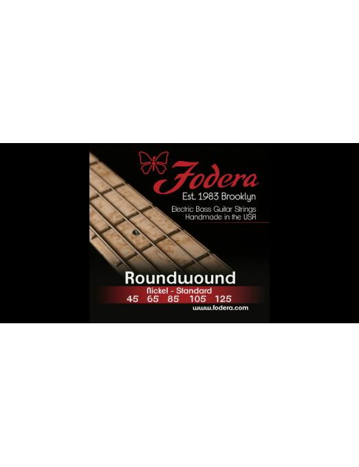"""Fodera® Cuerda Bajo Eléctrico 5 Cuerdas Long 35"""" Nickel Medium 45 - 125"""