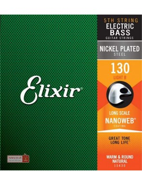 Elixir® Cuerda Bajo Eléctrico Suelta 15430 NANOWEB® Light Si (B) 130