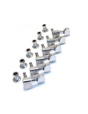 Fender® Squier® Genuine Parts Clavijero Guitarra  Eléctrica Strat® y Tele® Set 6 Unidades