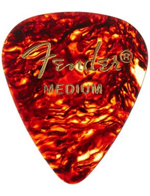Fender® Uñetas Celuloide 351 Classic Tortoise Shell Medium Set: 144 Unidades