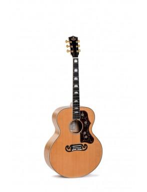 Sigma® Guitarra Eléctroacústica Grand Jumbo GJA-SG200+ Natural Fishman®