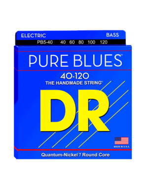 DR Cuerda Bajo Eléctrico 5 Cuerdas PURE BLUES™  PB5-45-100 Medium Light 45-100