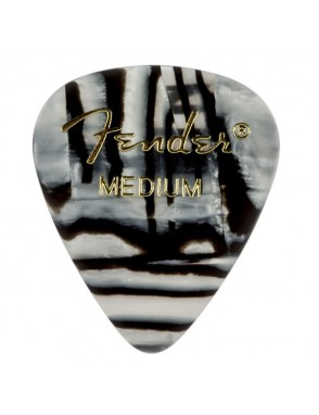 Fender® Uñetas Celuloide 351 Zebra Graphic Medium Set: 12 Unidades