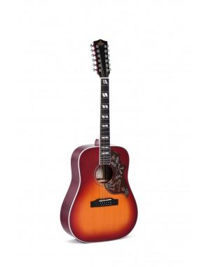 Sigma® Guitarra Electroacústica Dreadnought  12 Cuerdas DM12-SG5 Fishman®
