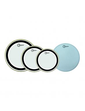 "Aquarian Drumheads® Parche Set SX-A  STUDIO-X™ Clear Set: SX1x10""-SX1x12""-SX1x14""+TC1x14"""