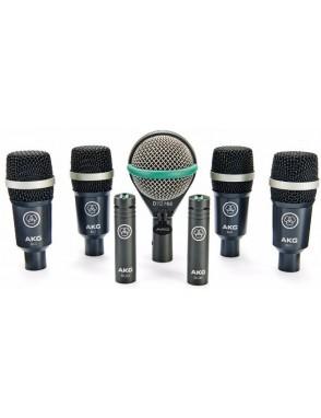 AKG® Micrófonos de Batería DRUM SET CONCERT I Set: 7 Micrófonos, Pinzas y Case