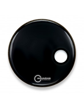 "Aquarian Drumheads® Parche Bombo Frontal 16"" SMPTCC-16W PORTER BASS™ Negro Resonante Small Hole"
