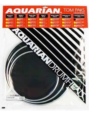 """Aquarian Drumheads® Parche Set RSP2-A RESPONSE 2™ Clear Set: RSP21x10""""- RSP21x12""""- RSP21x14""""+TC1x14"""""""