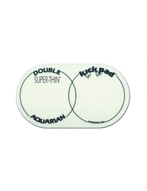 Aquarian Drumheads® Protector Parche STKP2 Kick Pad™ Super Thin™ Pedal Bombo Doble