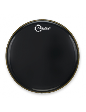 "Aquarian Drumheads® Parche Tom 16"" CC-16BK Classic Clear™ Negro"