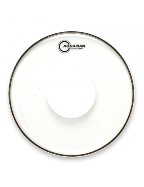 "Aquarian Drumheads® Parche Tom 14"" CCPD-14 Classic Clear™ Power Dot™"