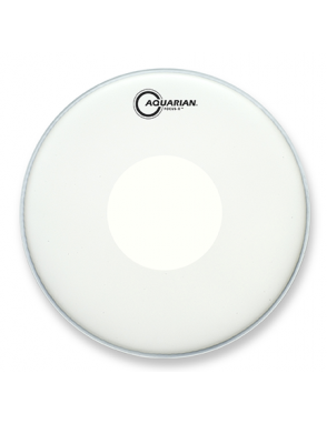 "Aquarian Drumheads® Parche Tom 14"" TCFXPD-14 Focus-X™ Texture Coated™ Power Dot™ Blanco"