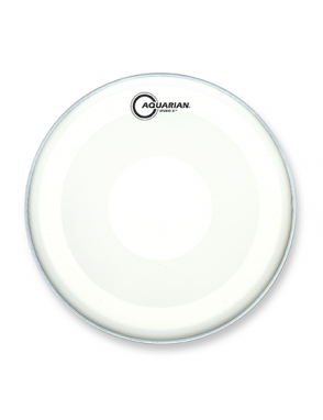 "Aquarian Drumheads® Parche Tom 16"" TCSXPD-16 Studio-X™ Texture Coated™ Power Dot™ Blanco"