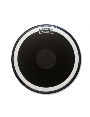 "Aquarian Drumheads® Parche Bombo 20"" SKIII-20BK SUPER KICK III™ Texture Coated™ Power Dot™ Negro"