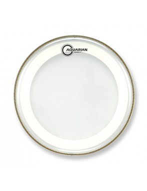 "Aquarian Drumheads® Parche Tom 13"" MRS2-13 SUPER 2™ Clear Studio-X™ Ring"