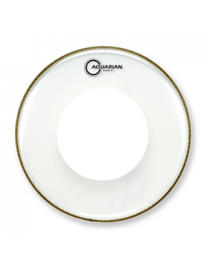 "Aquarian Drumheads® Parche Tom 14"" PDS2-14 SUPER 2™ Clear Power Dot™"