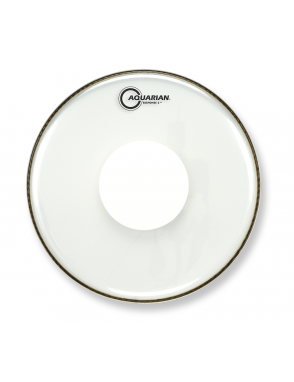 "Aquarian Drumheads® Parche Tom 13"" RSP2-PD13 RESPONSE 2™ Clear Power Dot™"