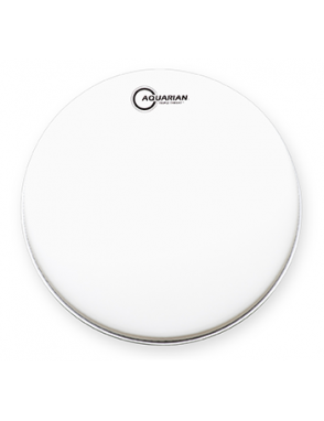 "Aquarian Drumheads® Parche Caja 13"" TRP-13 TRIPLE THREAT™ Texture Coated™ Blanco"