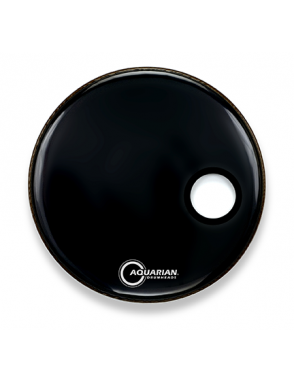 "Aquarian Drumheads® Parche Bombo Frontal 18"" SMPTCC-18BBK PORTED BASS™ Negro Resonante Small Hole"