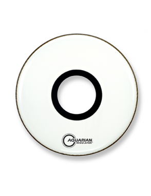 "Aquarian Drumheads® Parche Bombo Frontal 22"" RPT-22W REGULATOR™ Blanco Resonante Port Hole Central"