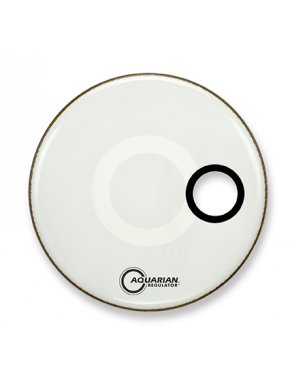 "Aquarian Drumheads® Parche Bombo Frontal 18"" RSM-18W REGULATOR™ Blanco Resonante Small Hole"
