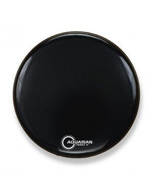 "Aquarian Drumheads® Parche Bombo 22"" Resonante FR-22BK Full Force II™ Negro Port Hole™"