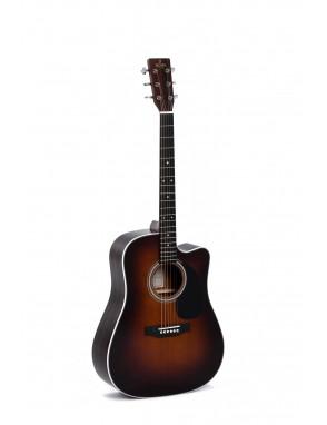 Sigma® Guitarra Electroacústica Dreadnought DTCE-1STE Sunburst