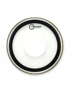 "Aquarian Drumheads® Parche Tom 14"" PFPD-14 PERFOMANCE II™ Clear Power Dot™"
