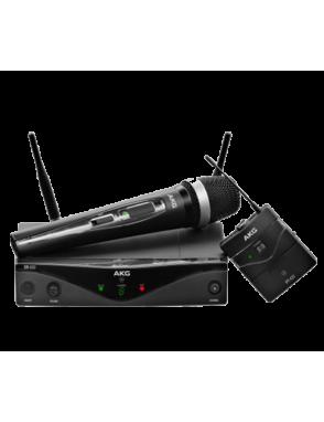 AKG® Sistema Micrófono Inalámbrico WSM Presenter Set: Bodypack, Receptor y Mic Lavalier