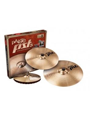 "Paiste® Platillos Set Rock PST 5 HH Sound Edge 14"" Crash 16"" Ride 20"""