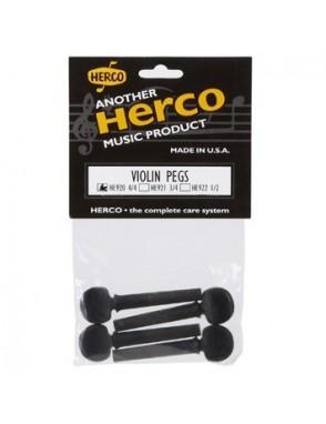 Dunlop Herco® Clavija Violín HE920 4/4 Ébano Pro Set: 4 Unidades