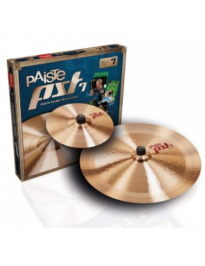 "Paiste® Platillos Set PST 7 EFX Pack: Splash 10"" China 18"""