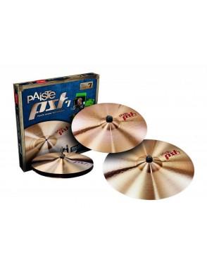 "Paiste® Platillos Hi-Hat 14""+Crash 16""+Ride 20"" PST7 Heavy Rock Set"