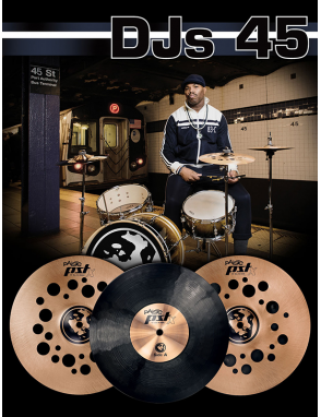 "Paiste® Platillos Set PST X DJs 45 SET: Hi-Hat 12"" Crash 12"" Ride 12"""