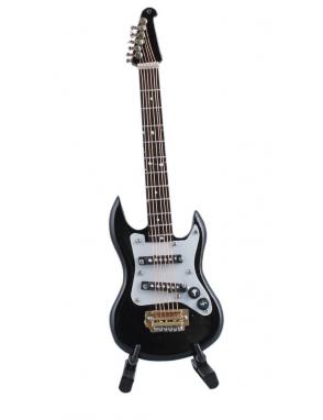 Miniaturas Guitarra Eléctrica Music Art Gold Atril y Estuche