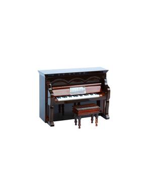 Miniaturas Piano Vertical Music Art Madera Estuche