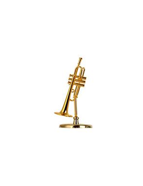 Miniaturas Trompeta Music Art Gold Base y Estuche