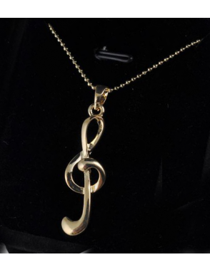 Music Art Joya Fantasía Colgante Nota Sol