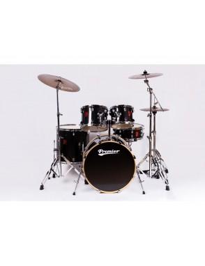PPremier® Set de Batería Acústica POWERHOUSE Modern Rock 22 sin HARDWARE Set: 5 Piezas Color: Galactic Black-Wrap
