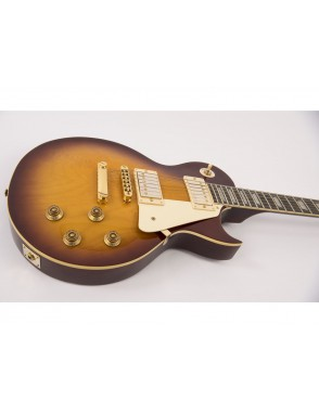 Vintage® Guitarra Electrica serie V100 flamed tobacco sunburst