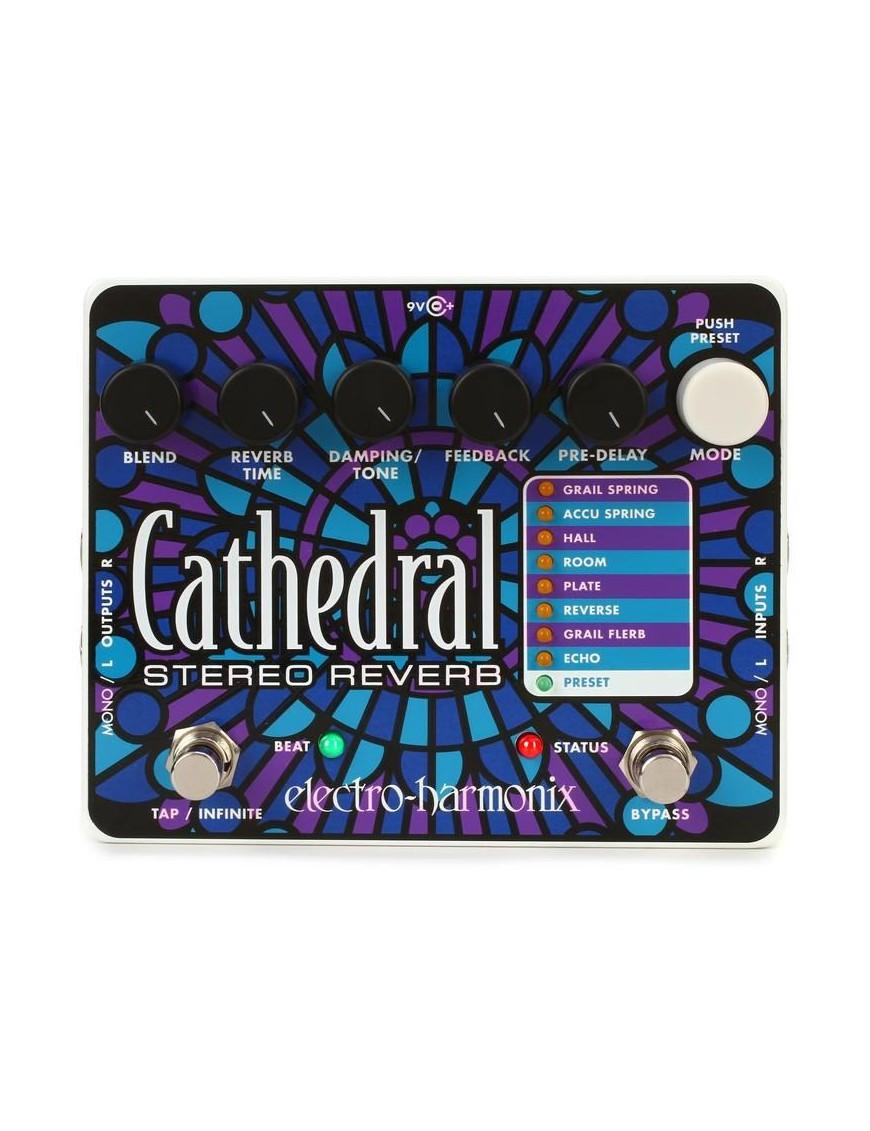 Electro-harmonix® Pedal Guitarra Estereo Reverb Cathedral