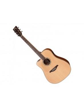 Vintage® Guitarra Electroacustica electro 6 Cuerdas acero VE300 folk guitar e/a sunburst