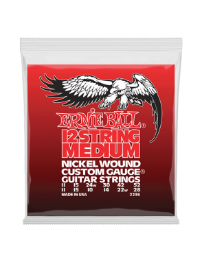 Ernie Ball® Cuerdas Guitarra Acústica 12 Cuerdas 2236 CUSTOM GAUGE® Medium 11-52