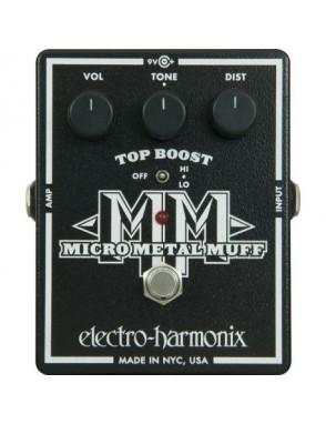 Electro-harmonix® Pedal Guitarra Distortion Micro Metal Muff con Top Boost