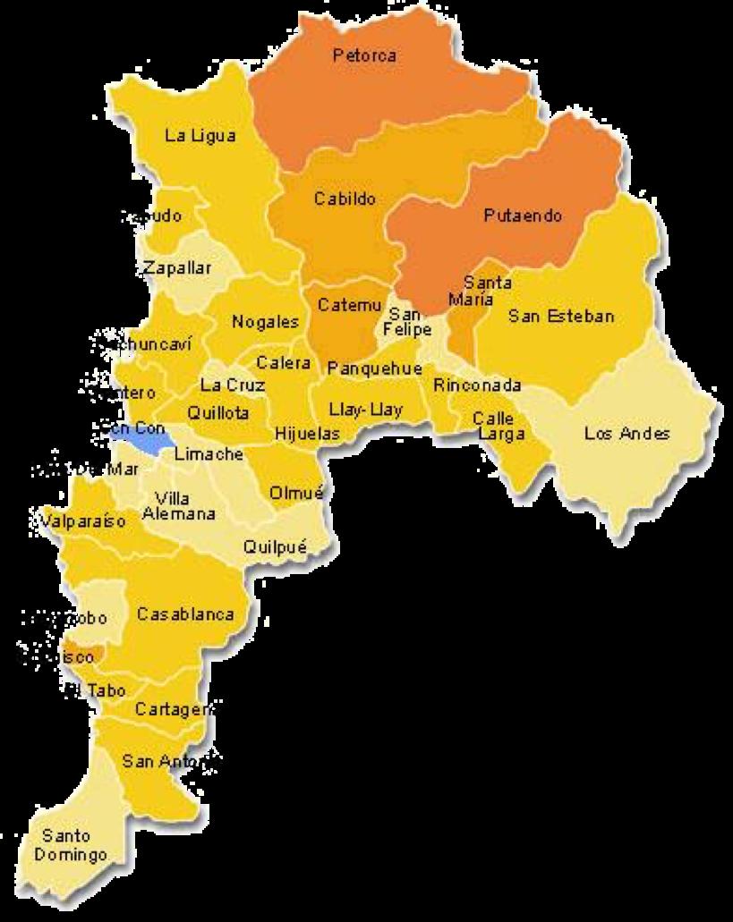 mapa region valparaiso